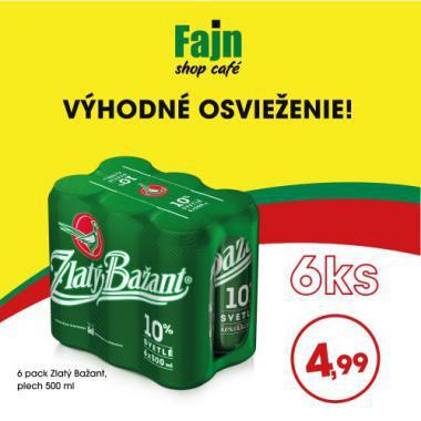 Zlatý Bažant 10% 0,5l 6 pack len za 4,99€