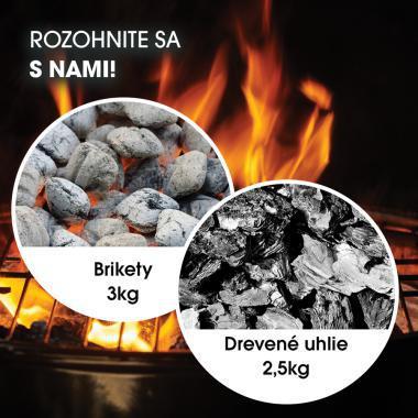 Brikety 3kg a drevené uhlie 2,5kg