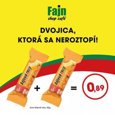 Sójové rezy 2ks/50g len za 0,89€